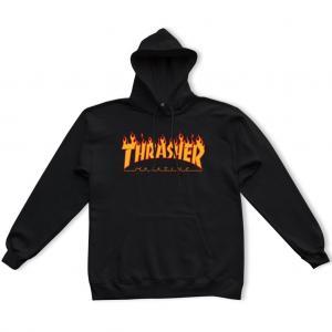 Thrasher Hood Flame Black