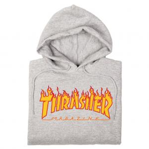Thrasher Hood Flame Grey