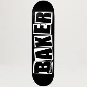 """Baker """"Brand Logo"""" blk/wht  8"""""""