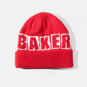 Baker Beanie Big Brand Logo Red