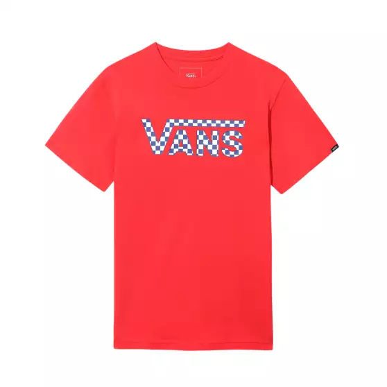 BY VANS CLASSIC LOGO FILL BOYS RACING RED/CHECKERB