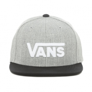 BY DROP V II SNAPBACK BOYS HEATHER GREY-BLACK