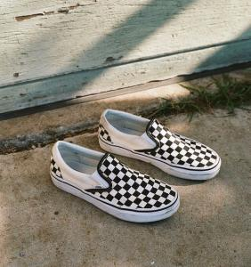 UA Classic Slip-On Blk&WhtChckerboard/Wht