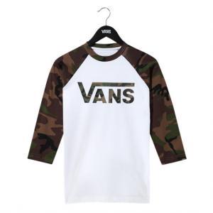 By Vans Classic Raglan Boys White/Camo