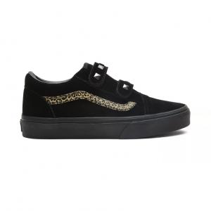 UY Old Skool V, (suede stud) black/leopard