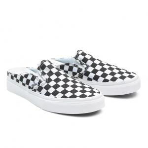 UA Classic Slip-On Mule (Checkerboard) Blk/TruWht