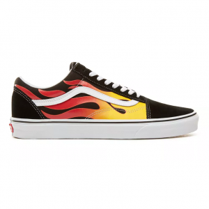 UA Old Skool, (flame) black/black/true white