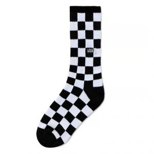 CHECKERBOARD CREW BOYS (1-6, 1PK), black-white check