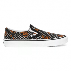 UA Classic Slip-On, (tiger floral) black/true whit