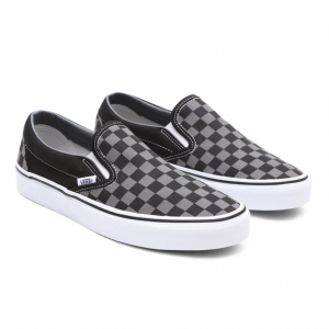 UA Classic Slip-On Black/Pewter Checkerboard