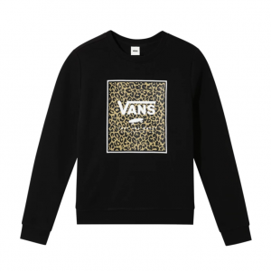 LEOPARD BOX CREW, black