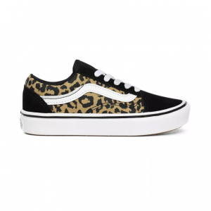UY ComfyCush Old Skool, (leopard) black/true white