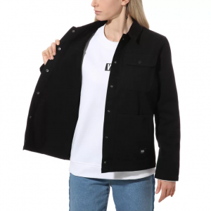 WM DRILL CHORE JACKET WMN BLACK