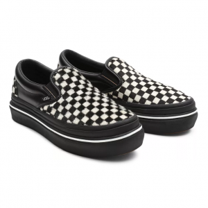 UA Super ComfyCush Slip-On (FURY) BLACK/WHITE