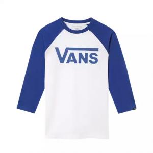 BY VANS CLASSIC RAGLAN BOYS WHITE/SODALITE BLUE