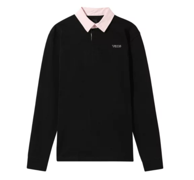 SIXTY SIXERS RUGBY POLO, black