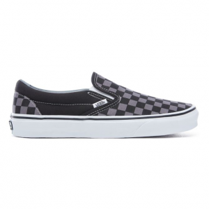 UA Classic Slip-On Black/Pewter Checkerboard