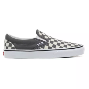 UA Classic Slip-On (Checkerboard) pewter/true whit