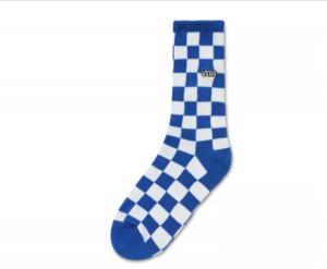 CHECKERBOARD CREW BOYS (1-6, 1PK), victoria blue