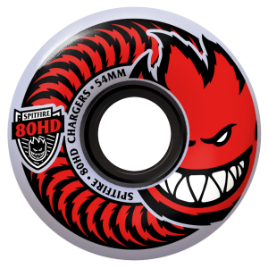 Spitfire Chargers Classic 80Du Clear/Red 56mm
