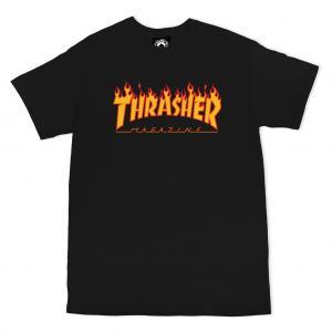 Thrasher Tee Flame Black