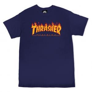 Thrasher Tee Flame Navy