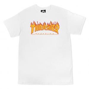 Thrasher Tee Flame White