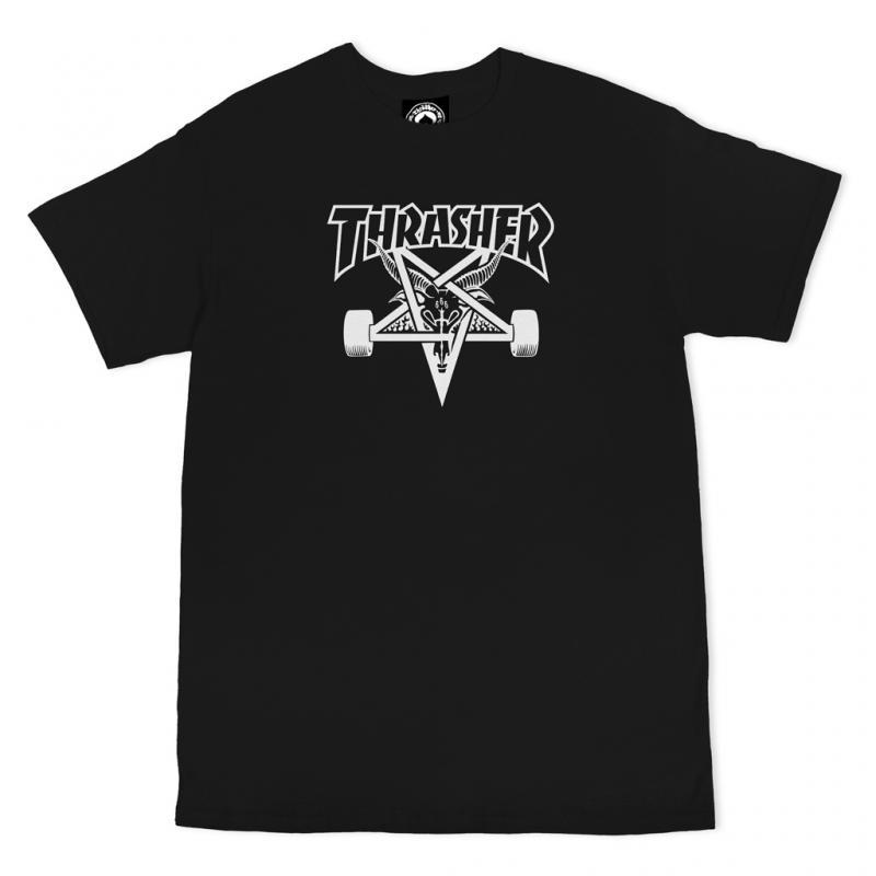 Thrasher Tee Skate Goat Black