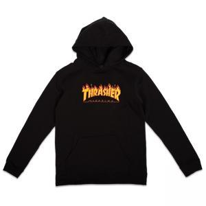 Thrasher Youth Hood Flame Black