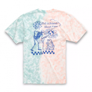 MN TELL A FRIEND TIE DYE SS FUSION CORAL/CAMEO BLU