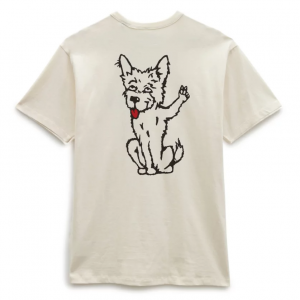MN VANS X TYSON P DOG OFF THE WALL TEE antique whi