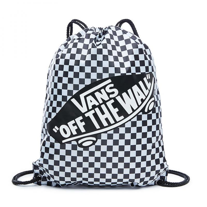 BENCHED BAG, black-white checkerboard