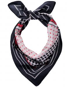 scarf marin/mönstrad