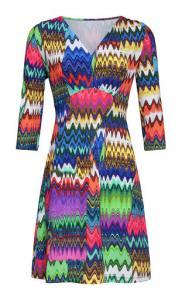 Klänning multifärg