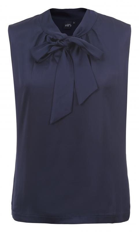 Knytblus marinblå