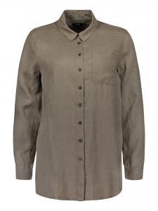 Skjorta khakifärgad lin