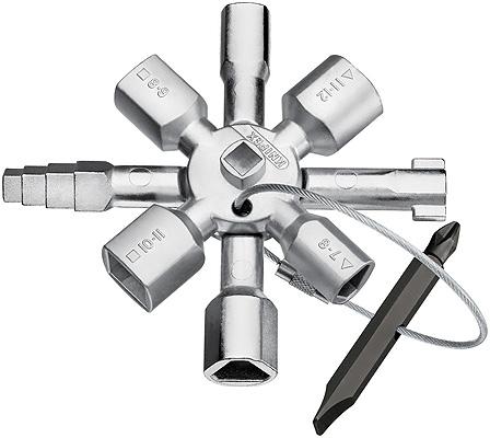Knipex 00 11 01 - TwinKey kopplingsskåpsnyckel