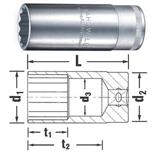 """1/2"""" Långhylsa för insprutningsmunstycke 27mm"""