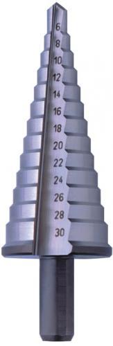 Stegborr med rakt skär 1 mm steg (TiN)