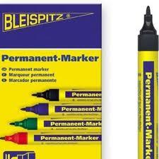 Permanent Marker Svart tusch 10-pack