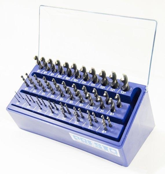 Presto Hi-nox drillbox för rostfritt stål (1,0-13mm 55st)