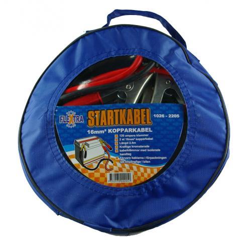 Flextra startkablar med elektronikskydd inkl. väska