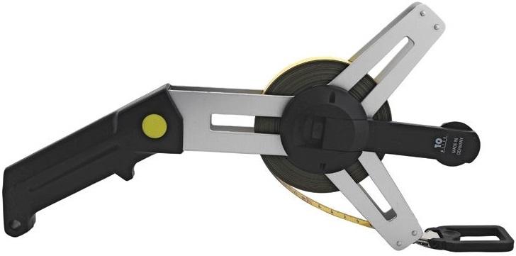 Stålmåttband på aluminiumhållare