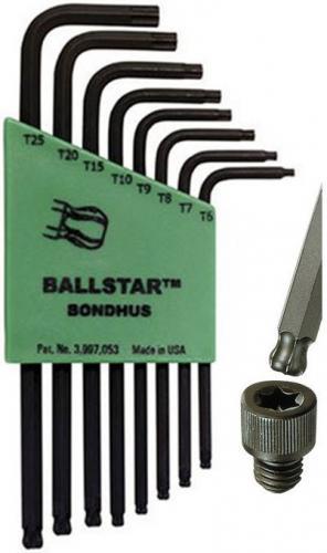 Bondhus LTX8S torxnyckelsats med kula (T6-T25)