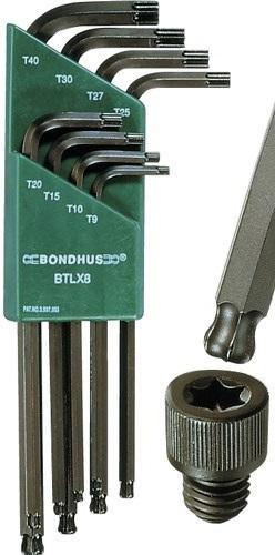 Bondhus Torxnyckelsats LTX8 med kula
