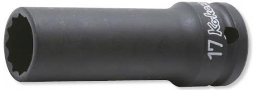 """Koken 14306M 1/2"""" Tunnväggig krafthylsa lång 12pt 10-32mm"""
