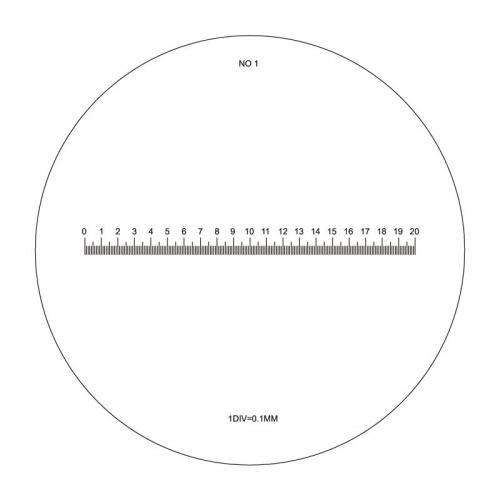 Diesella mätskala/bildfält för precisionslupp 10X