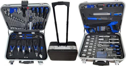 Bato verktygsväska med hjul (132 verktyg ingår)
