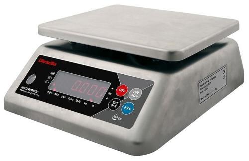 Bordsvåg IP68 med kabinett av rostfritt stål (max 15,0kg)