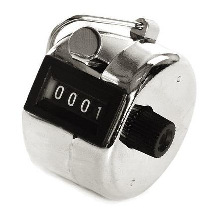 Mekanisk handräknare 4-siffrigt räkneverk